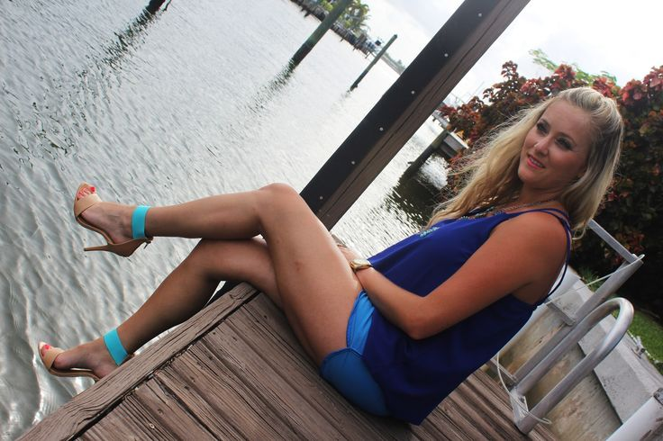 Ocean Blues, #Blue, #navy, #cobalt, #seafoam, #sky, #shorts, @Jordan Bromley Hall, @Marshalls, #fabfound, #projectfab, #heels, @FOREVER.com 21, @Elaine Young Shortell, #top, #crisscross, #lips, #sephora, #bright, #coral, #beach, #ocean, #sunshine, #curls, #starfish, #ring, Bubble necklace, #outfit
