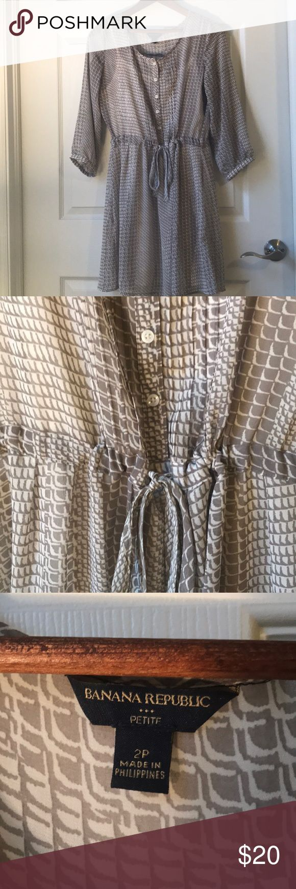 Banana Republic 3/4 Sleeve Dress Detached slip comes in handy  Used condition  Dress is in good condition  slip shows signs of wear   🛍 Make an offer or bundle for a discount 🛍 Banana Republic Dresses