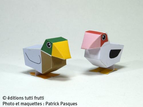 Animaux de la ferme papercraft origami maquette en - Origami 3d animaux ...