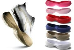 Cleatskins Golf covers slip over the bottom of your golf shoes and allows you to move to/from the car, the course and the clubhouse with ease. Just slip them off when you're ready to tee-off! It's that easy. It's a great must-have item for those of us who are always changing our shoes in the parking lot! Plus, now you can head straight to the 19th hole without having to change your shoes! Get them to match your team colors
