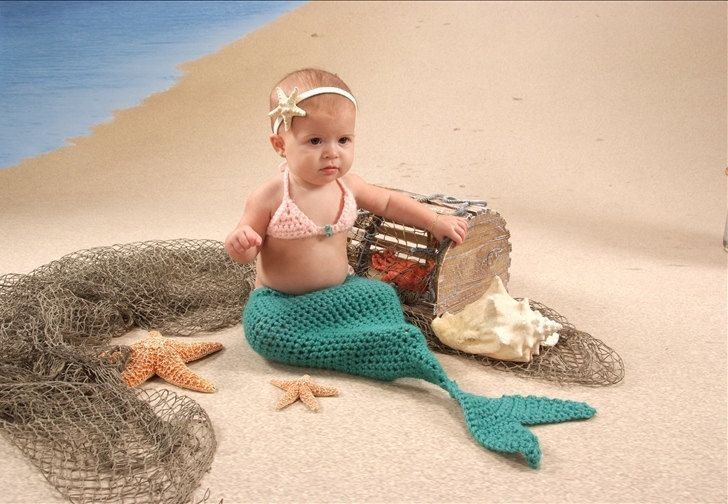 Mermaid Baby crochet  بيبي كروشيه عروسة البحر