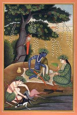 Rama, Sita & Lakshmi in the forest