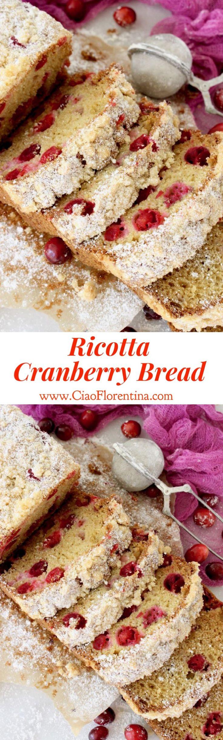 Cranberry Bread Recipe with Ricotta and Olive Oil | CiaoFlorentina.com @CiaoFlorentina
