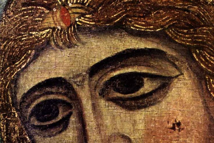www.school.edu.ru :: Ангел «Златые власы». Архангел Гавриил. Икона. ХII век. ГРМ