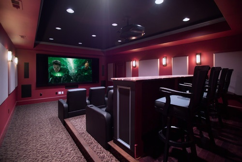 Home theater room paint color design pictures remodel decor and ideas page 15 theater - Best paint color for home theater ...