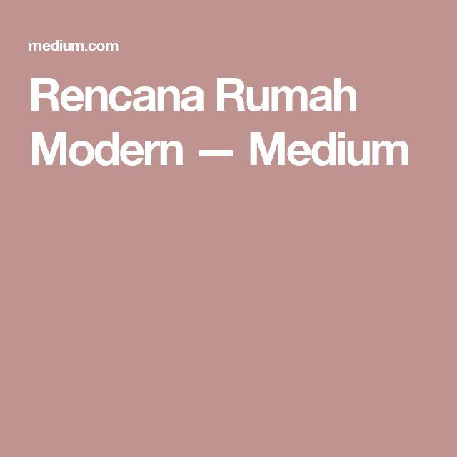 Rencana Rumah Modern — Medium