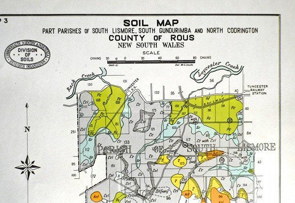 Vintage austraila soils map Original Photo-lithograph