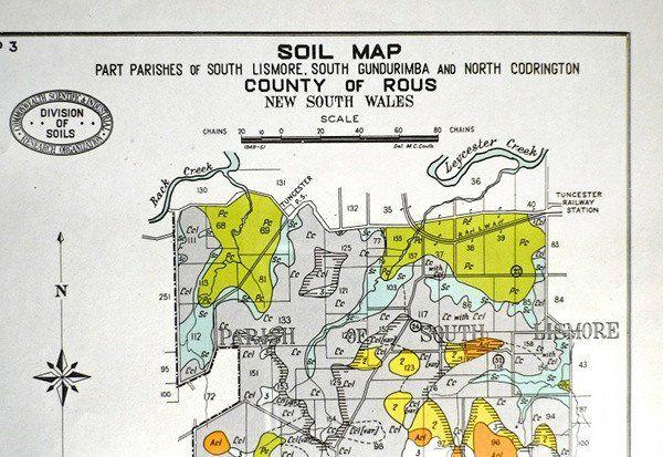 Vintage austraila soils map Original Photo-lithograph