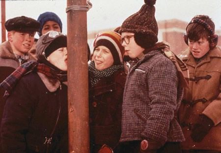 A Christmas Story - At least one of the televisions in the house is tuned in to the marathon for the full 24 hours each year!