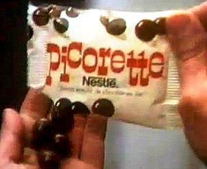 Les bonbons Picorette de Nestlé ! (Picorettes) ma sœur aînée nous payait pour qu'on aille en acheter à la boulangerie pendant les révisions du bac!