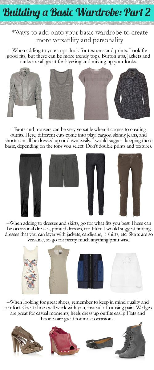 How to build a wardrobe: Part 2