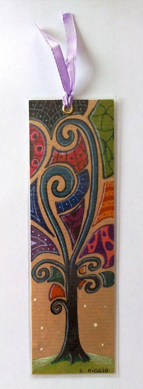 Marque-pages fait main - marque-pages arbre moderne multicolore - marque-pages…