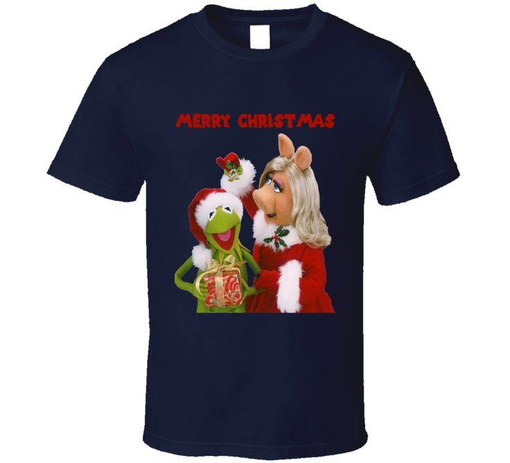Merry Christmas Kermit Miss Piggy La Rana Rene Chanchita Peggy T Shirt