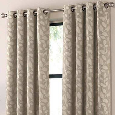Sonoma leaf print grommet top curtain panel jcpenney for Jcpenney living room curtains