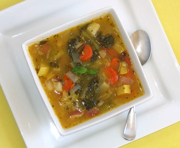 Slow-Cook Veg Soup by Robin Robertson