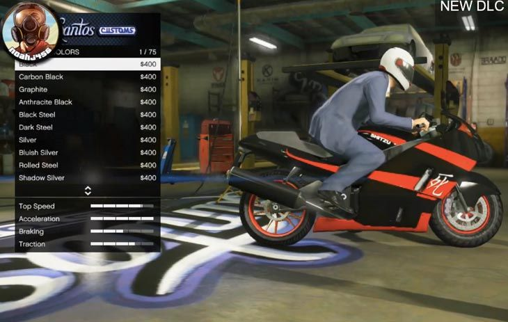 The latest GTA V update added a new motorcycle called Shitzu Hakuchou. Take a look at how this compares to the Bati 801, Dinka Thrust, and Carbon RS.