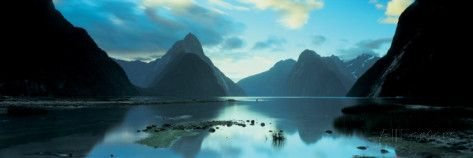 South Island, Milford Sound, New Zealand Photographic Print by Panoramic Images at AllPosters.com