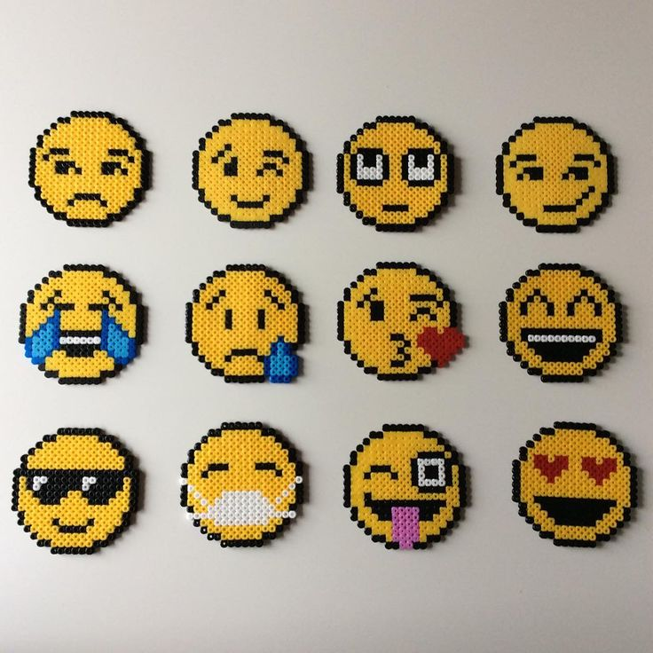 Emojis hama beads by _the_creative_girls_