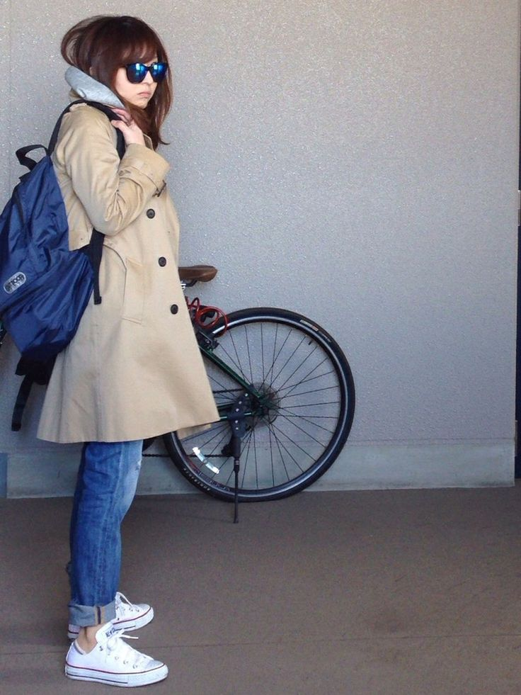 mayumiさんのバックパック/リュック「holiday holiday×OUTDOOR BACKPACK ホリデイ×アウトドア バックパック」を使ったコーディネート