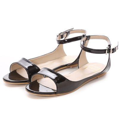 ピーチ・ジョン PEACH JOHN ネックベルトフラットサンダル(ブラック) -「買ってから選ぶ。」靴とファッションの通販サイト ロコンド