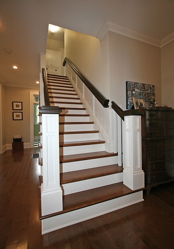 Best Birch Hardwood Staircase Leading To The Second Level Of 400 x 300