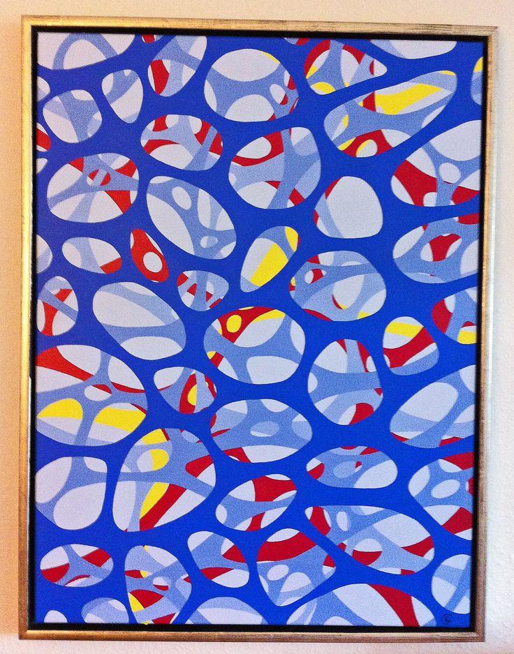 """Titel """"Synapser"""" 80x60 cm. Acrylic Colors"""