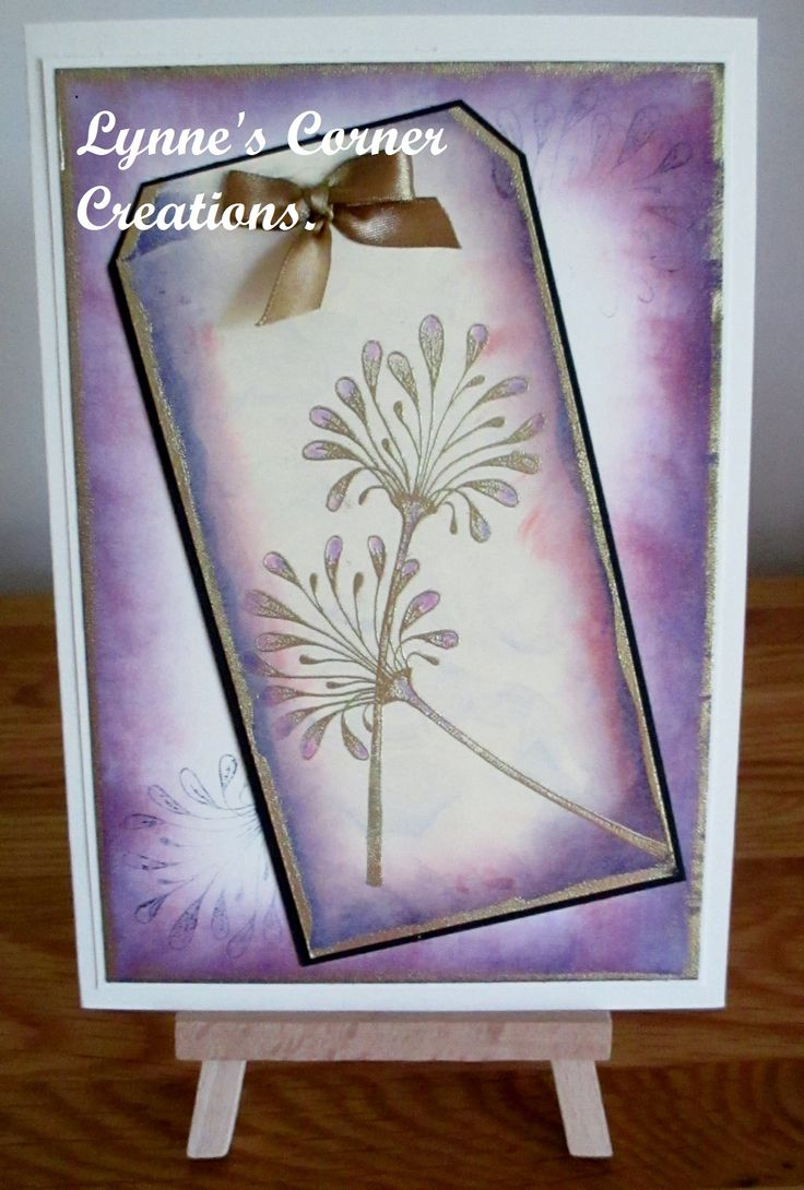 Floral stamp from Lavinia stamps