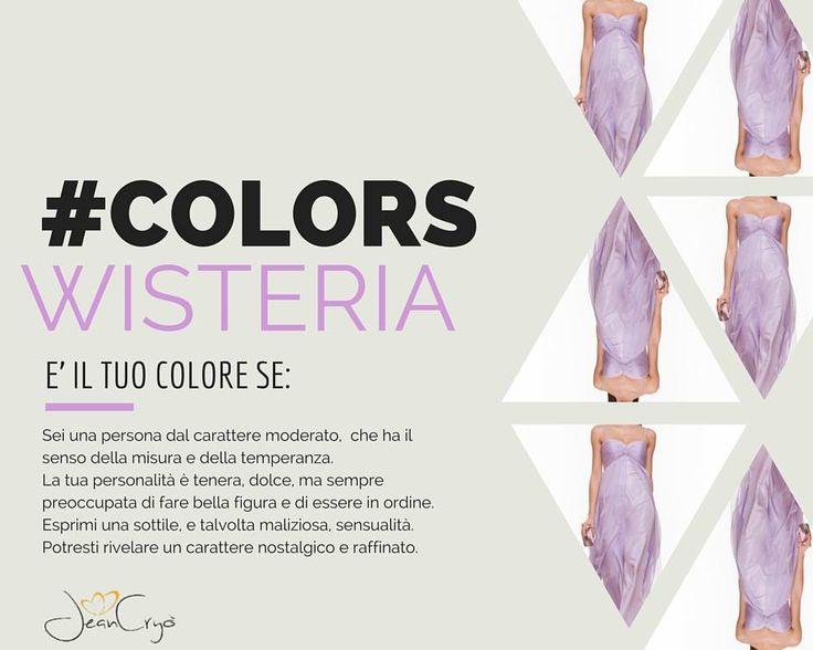 #Colors #Wisteria... #Lilla o #glicine Adori indossare questo colore? Allora questo post ti rivelerà qualcosa in più sulla tua personalità! #colors #colori #moda #personalità #style #passion #fashion #look