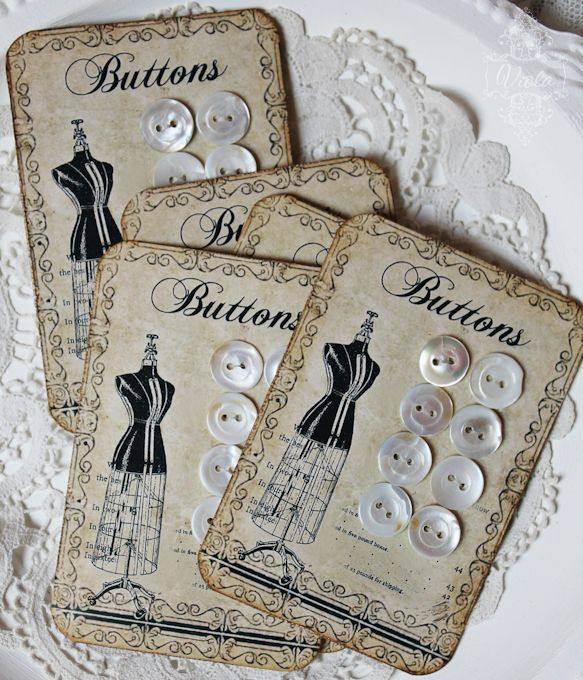 Vintage Inspired: button card freebie