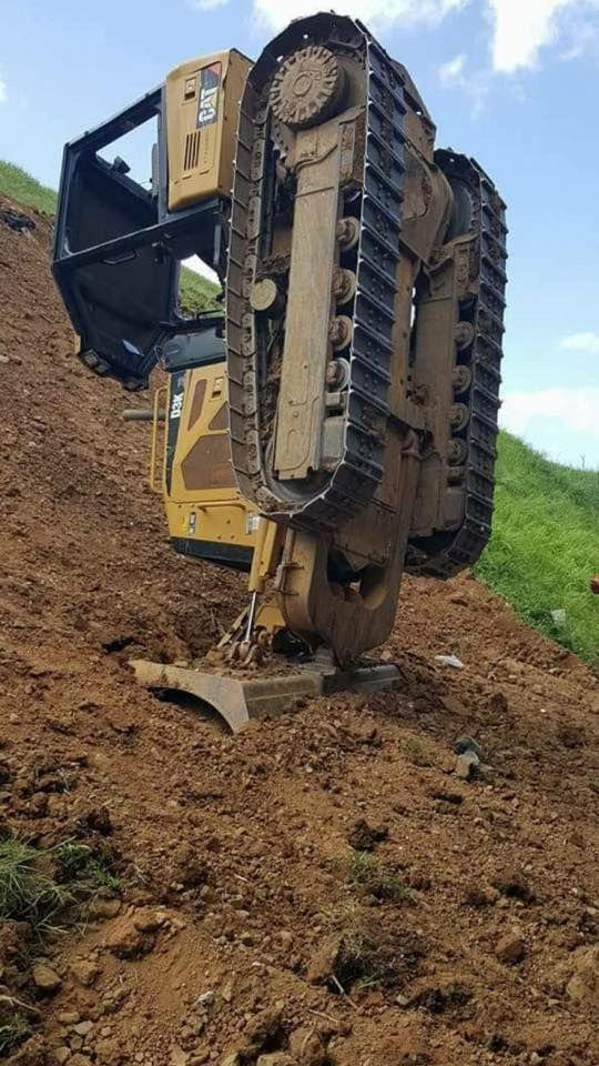 Hang in there! #RockandDirt #Dozers #HeavyEquipment   Construction