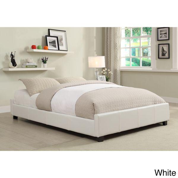 Furniture Of America Miuralli Leatherette Platform Queen Bed By Furniture  Of America