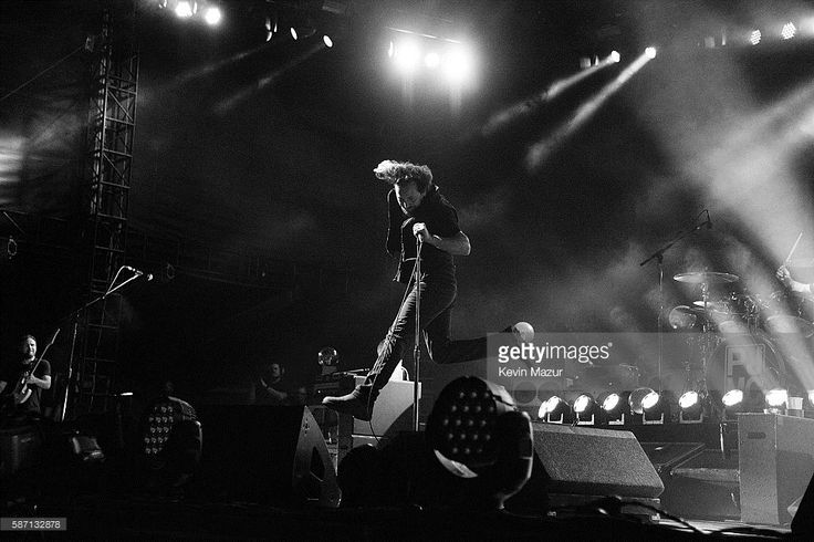 Eddie Vedder of Pearl Jam performs on stage at Fenway Park on August 5, 2016 in Boston, Massachusetts.