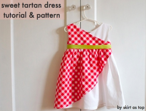 sweet tartan dress tutorial and pattern