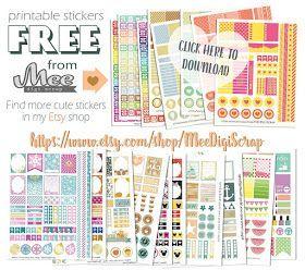 Mee scrapbook kits free download: Free planner stickers