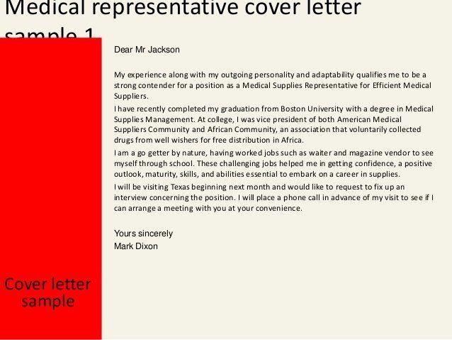 Graduate Medical Sales Cover Letter Good Design Memorable