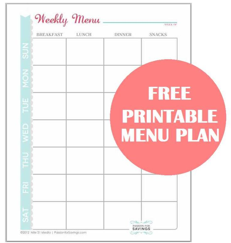 Best 25 menu planning printable ideas on pinterest for Make a planner free