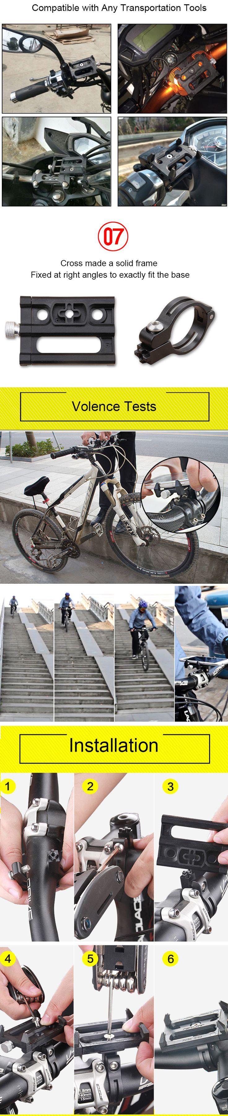 GUB G-83 Anti-Slip Universal Bicycle 3.5-6.2inch Phone Holder Mount Bracket for Smart Mobile Phone Handlebar Clip Stand