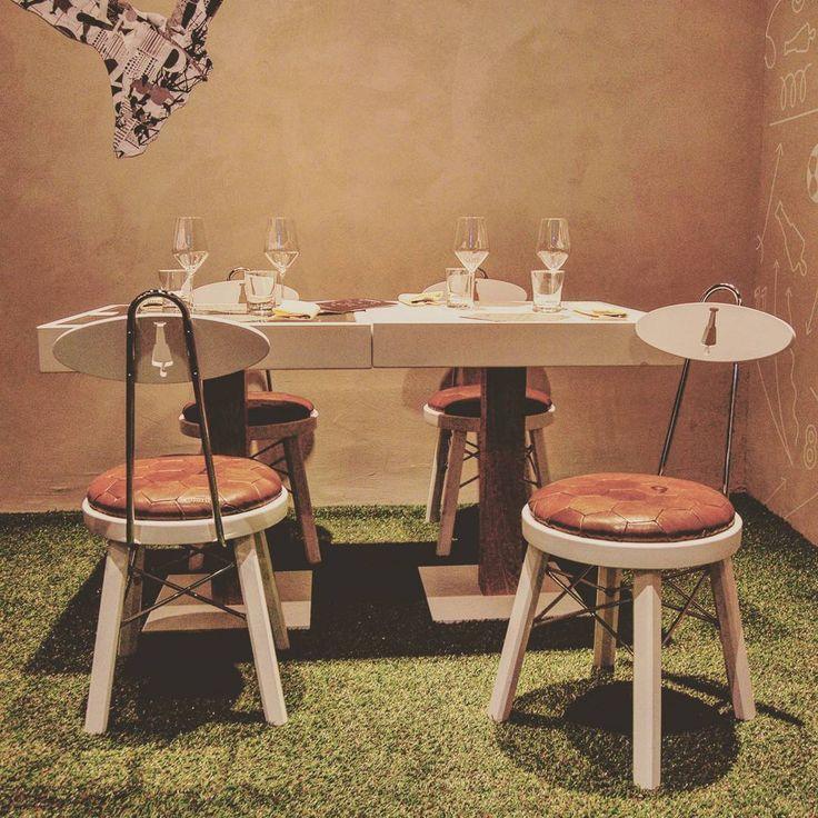 #ffb #chair designed by #emporioorenga. #chairdesign #leather #leatherwork #woodesign #wood #stell #cromo #ilbuonodelcalcio #fashionfoodballer #piazzastrozzi #firenze #florence #restaurantdesign #retaildesign #museumdesign