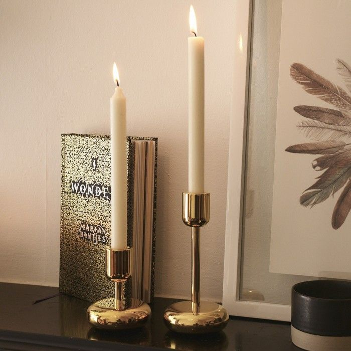 Iittala Nappula Brass Candle Holder | Mad About The House