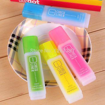 6pcs coreano papelaria vendendo líquido caneta giz / choque de graffiti marcador marcadores / neon rosa pintura luminescente / escola