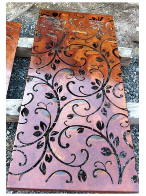 Corten Steel; I would love this for a security door.                                                                                                                                                                                 More