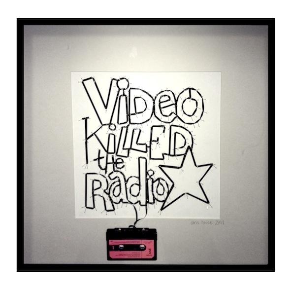 upcycled cassette tape art