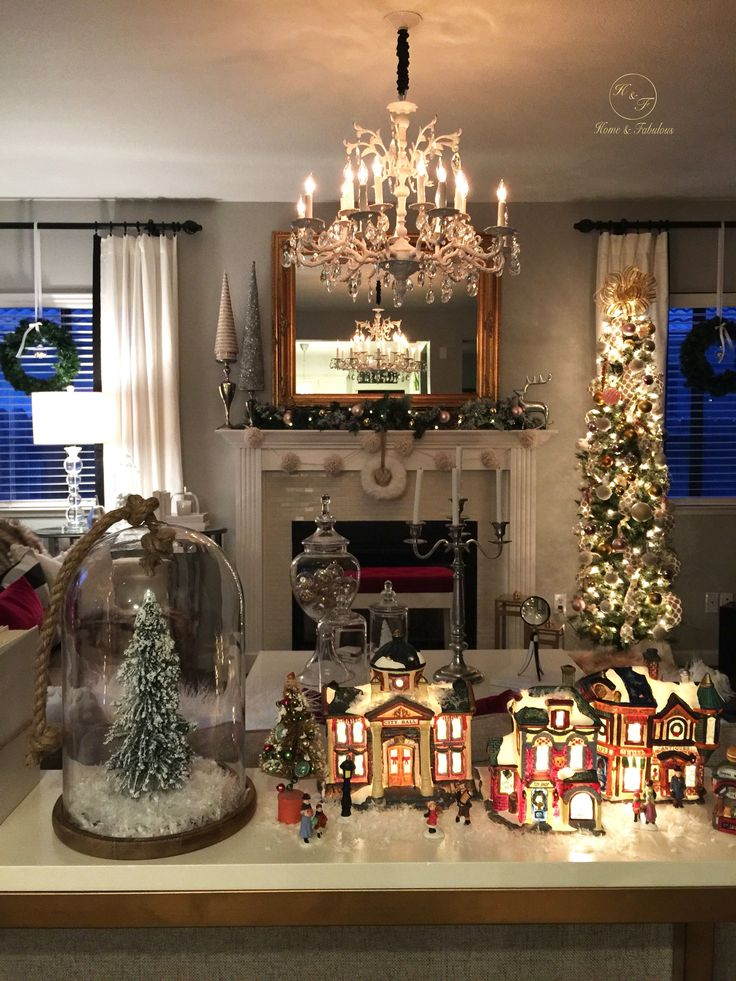Christmas Best Living Room Decorations: 2350 Best Images About Christmas Village On Pinterest