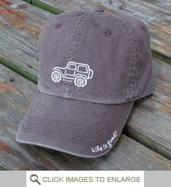 Life is good Chill Cap - White Ride on