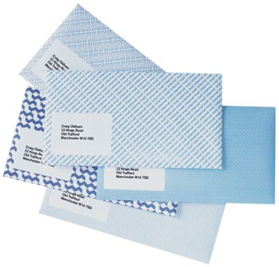 Create decorative envelopes by simply turning security envelopes inside out.