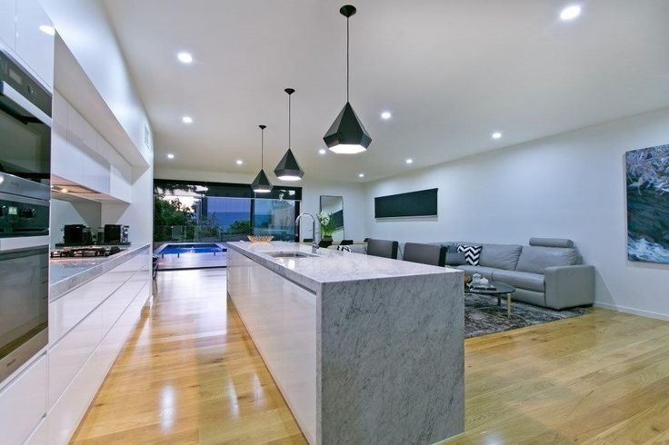 Kitchens Renovations Brisbane - Concrete Bench Top with Waterfall