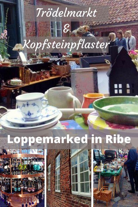 Trödelmarkt in der wunderschönen Altstadt von Ribe, der ältesten Stadt in Dänemark.