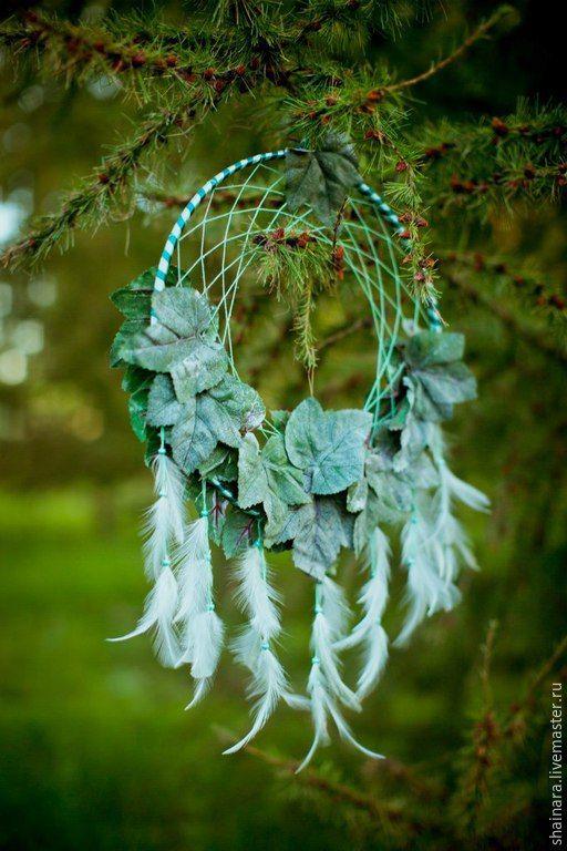 """Купить """"Виноградные сны"""" ловец снов - зеленый, хвоя, виноград, ловец снов, ловушка сновидений"""