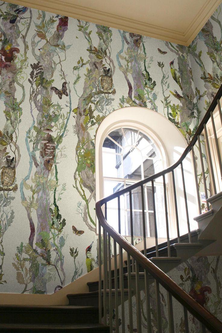 Timorous Beasties Wallcoverings - Indie Wood:  The most beautiful wallpaper I've ever seen.