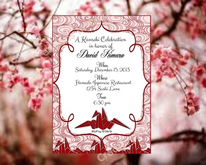 22 Best Yakudoshi Invitations Images On Pinterest In Color